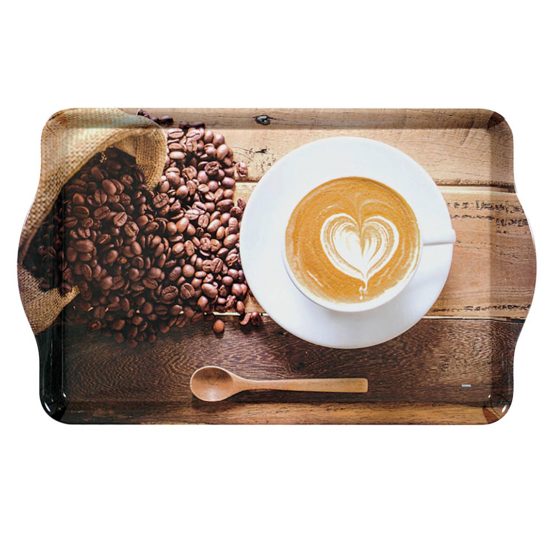 Dienblad Rechthoekig - Met Print Koffie En Bonen - Design Koffie-thee