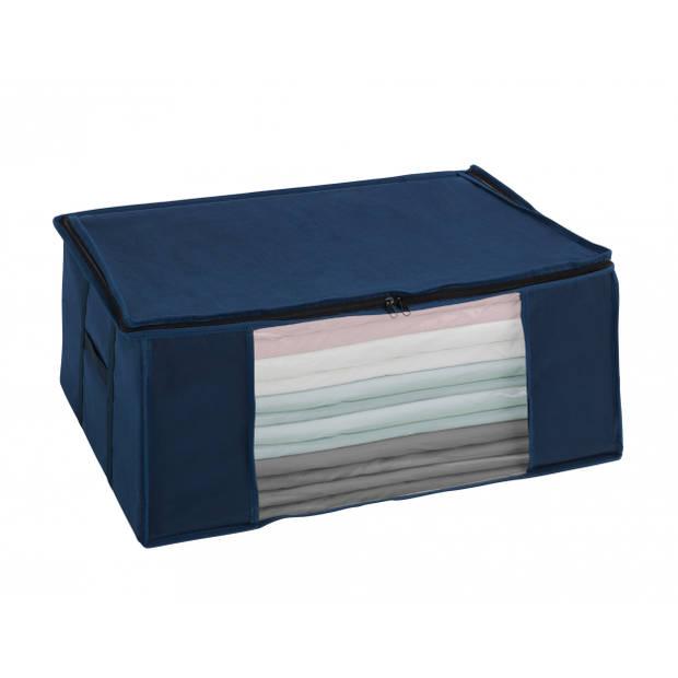 Wenko vacuümzak Soft Box L 65 x 25 x 50 cm polyester blauw