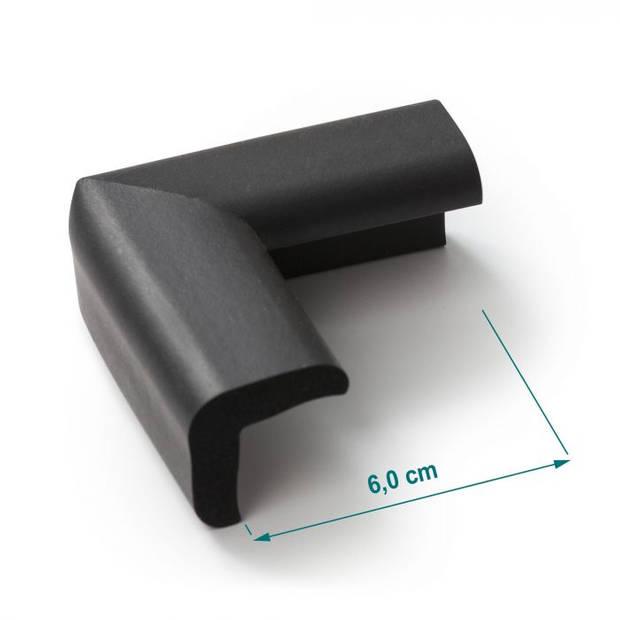 Jippie's tafelhoekbescherming 6 x 6 cm foam zwart 4 stuks