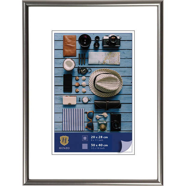 Henzo Fotolijst - Napoli - Fotomaat 30x40 cm - Grijs