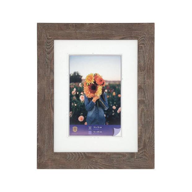 Henzo Fotolijst - Dahlia - Fotomaat 15x20 cm - Bruin