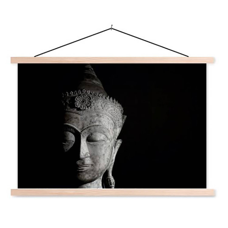 Schoolplaat Boeddha Zwartwit