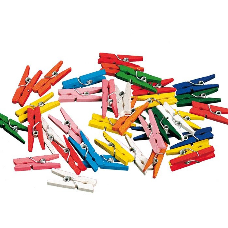 Korting Haza Original Miniwasknijperset 20 delig 2,5 Cm Multicolor