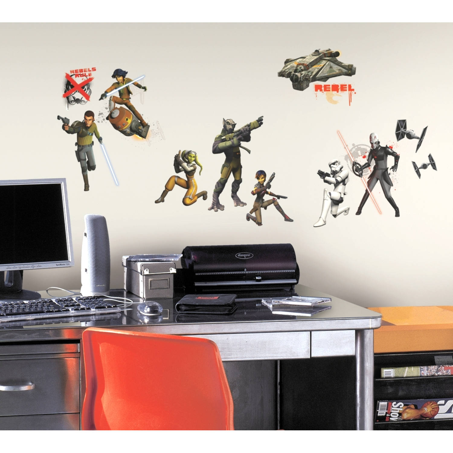Muursticker Star Wars Roommates - Glow Disney Star Wars