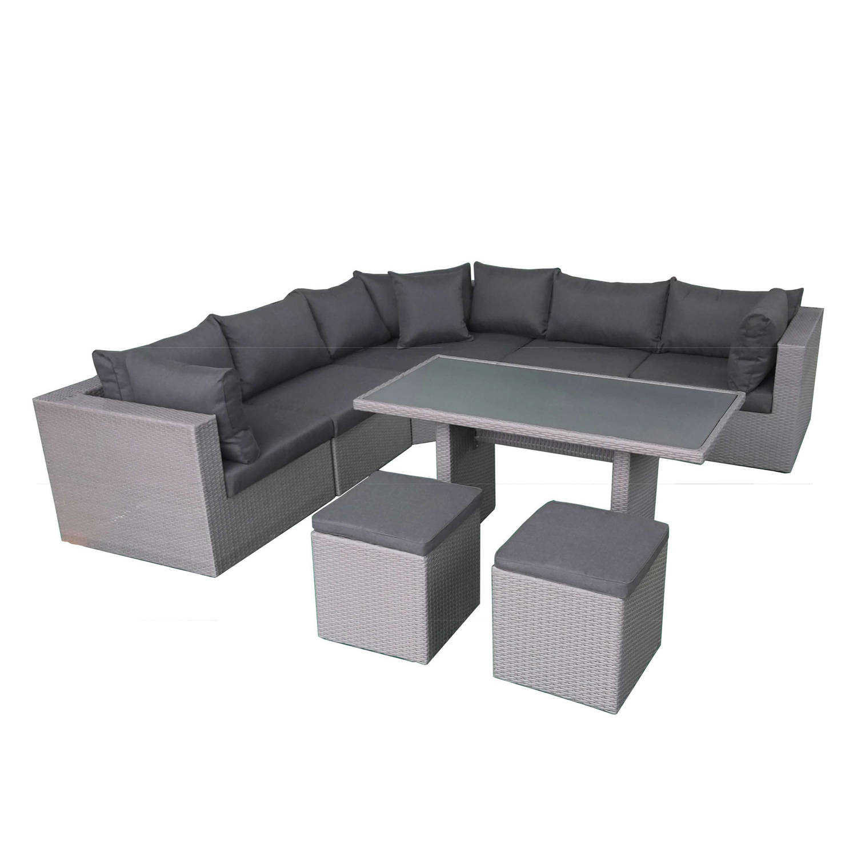 Fonteyn Lounge-/dining Set Salou Dark Grey