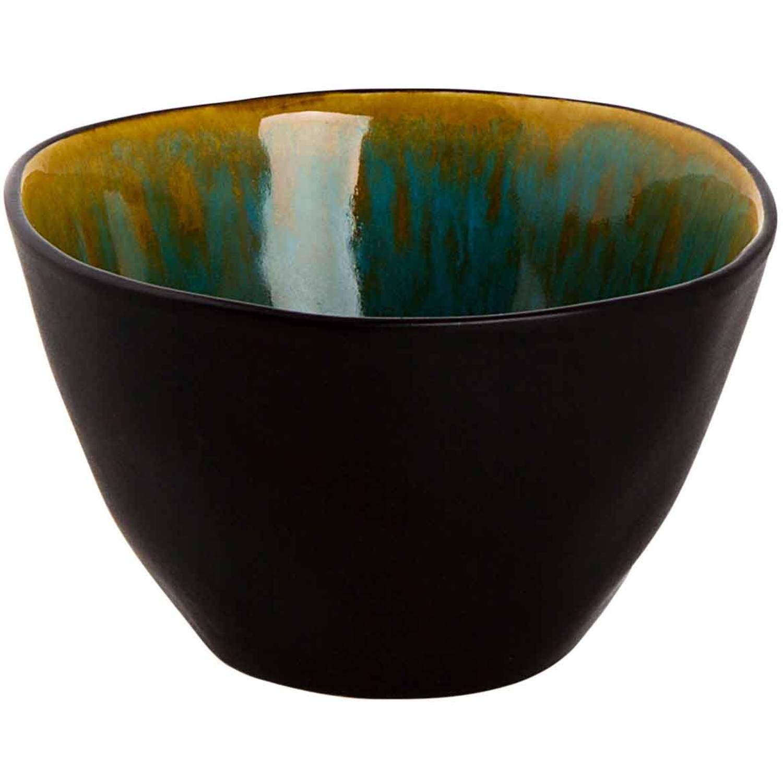 Korting Palmer Schaal Lotus 8 Cm 12 Cl Turquoise Zwart Stoneware 1 Stuk(s)