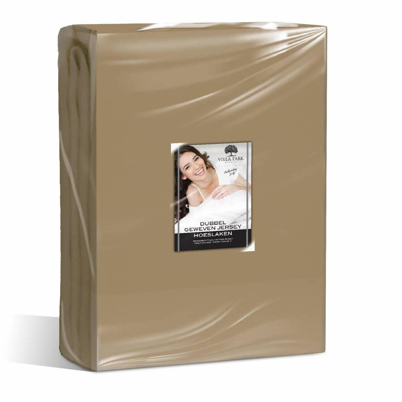 Nightsrest Vp Dubbel Jersey Matras Hoeslaken Taupe Maat: 80-90x200-220 + 40cm