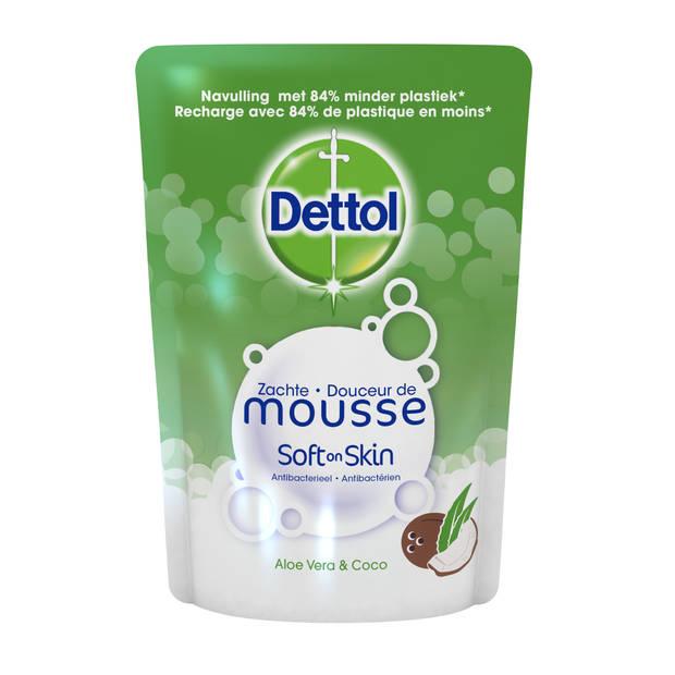 Dettol Handzeep Zachte Mousse - Navulling Magic Foam - Aloe Vera & Coco - 250ml x8