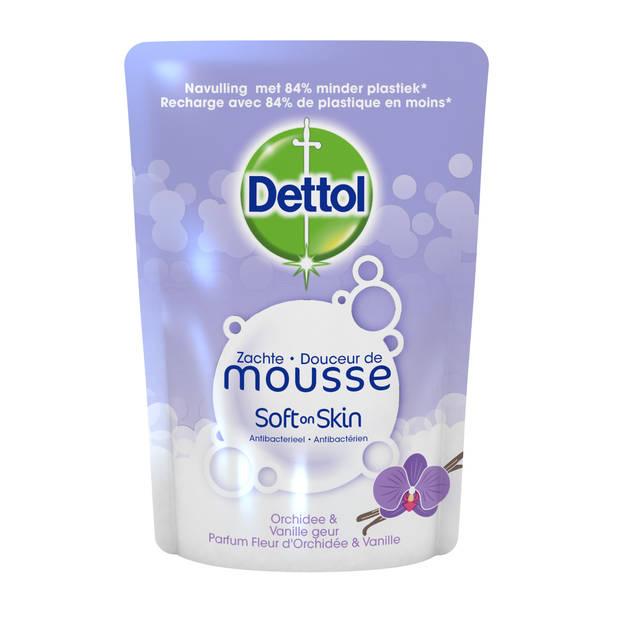 Dettol Handzeep Zachte Mousse - Navulling Magic Foam - Orchidee & Vanille - 250ml x6