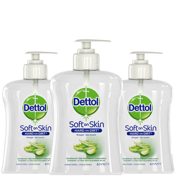 Dettol Handzeep - Hydraterend – Aloe Vera - 250ml x3