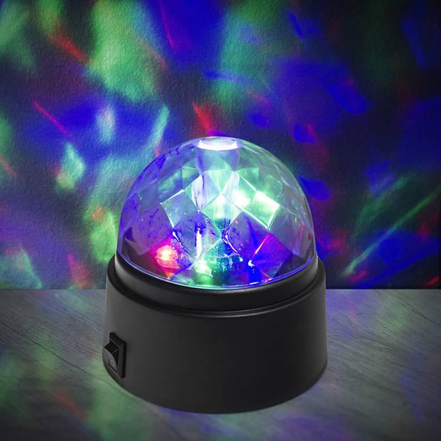 Balvi discolicht junior 8,4 x 9,1 cm ABS groen/paars/rood