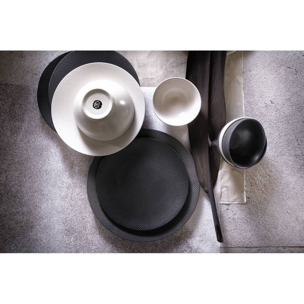 Palmer Schaal Dots 11.5 cm 30 cl Wit Stoneware 1 stuk(s)