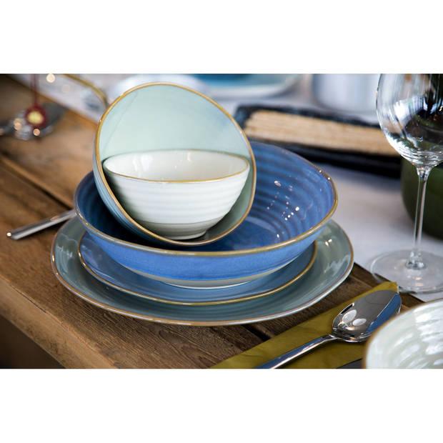 Palmer Schaal Dublin 12.5 cm 40 cl Blauw Stoneware 1 stuk(s)