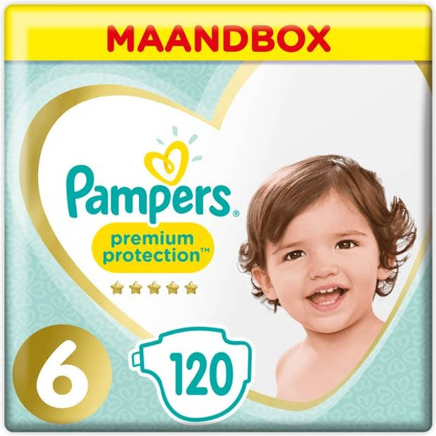 Pampers Premium Protection Luiers Maat 6 - 120 stuks Maandbox