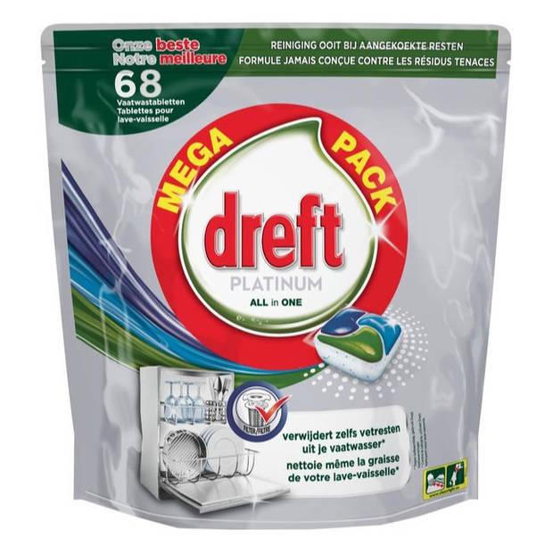 Dreft Platinum All in One Vaatwastabletten - 68 stuks