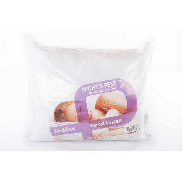 Nightsrest Percal Punt kussen - hoofdkussen - 60x70cm