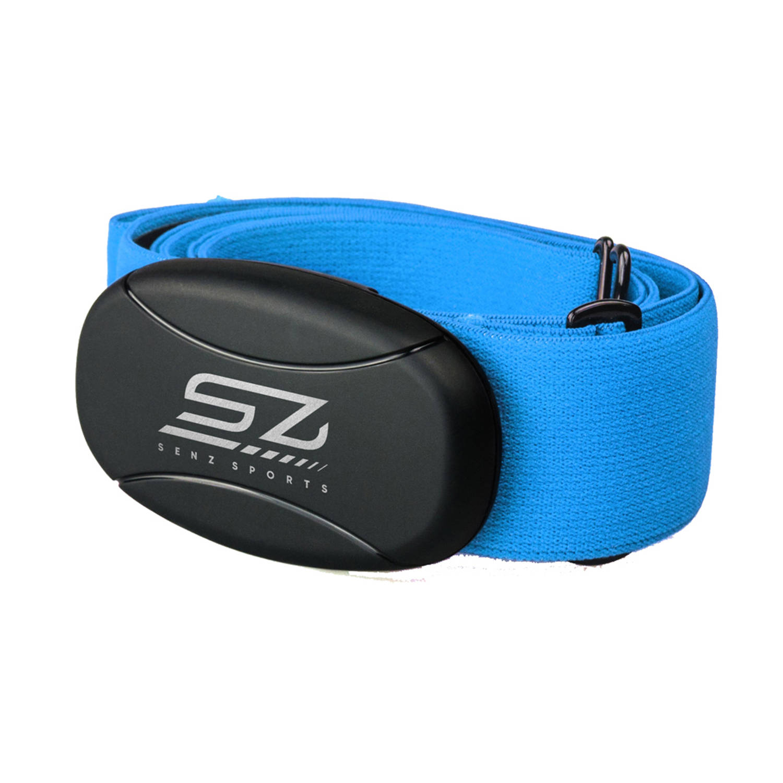 Hartslagmeter Senz Sports 3-in-1 Borstband Blauw