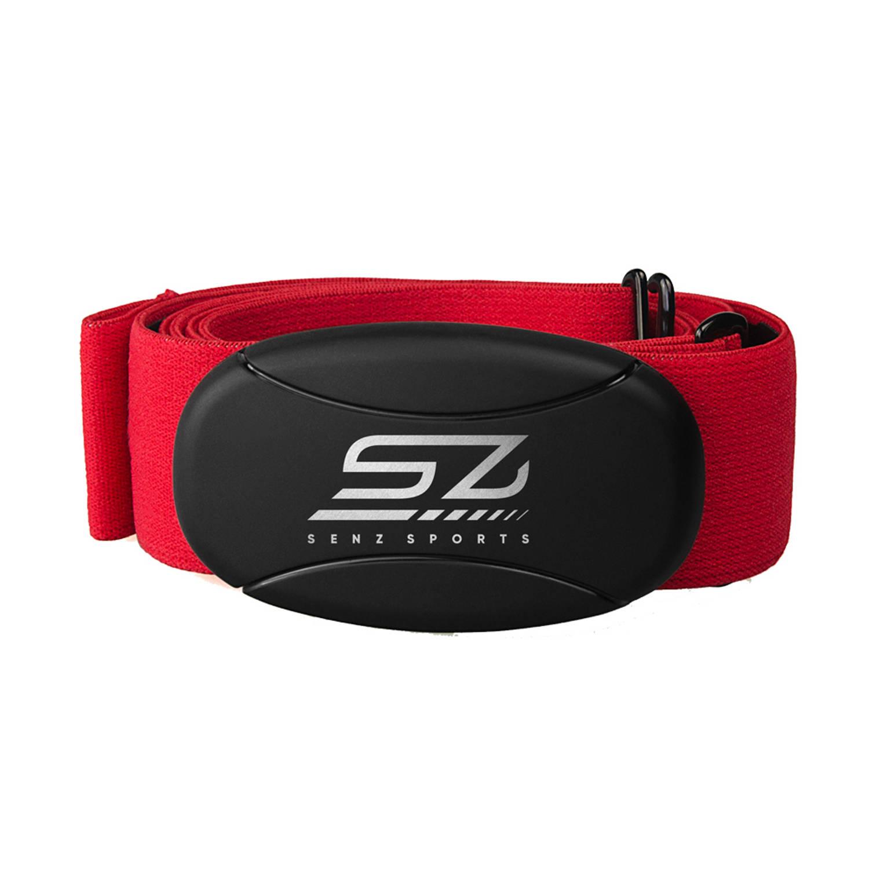 Hartslagmeter Senz Sports 3-in-1 Borstband Rood