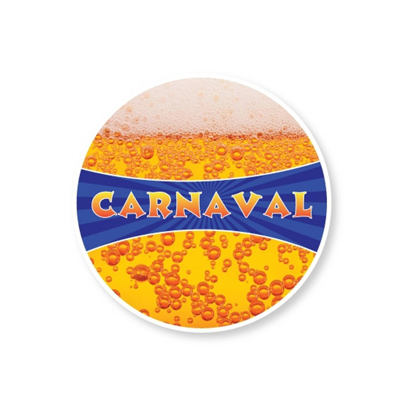 100x Bierviltjes Carnaval - Feestartikelen/versiering