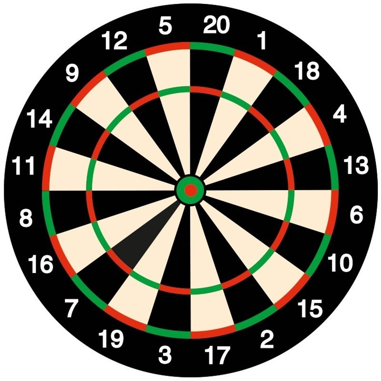 100x Bierviltjes Onderzetters Dartbord/darten Feestartikelen Versiering Thema
