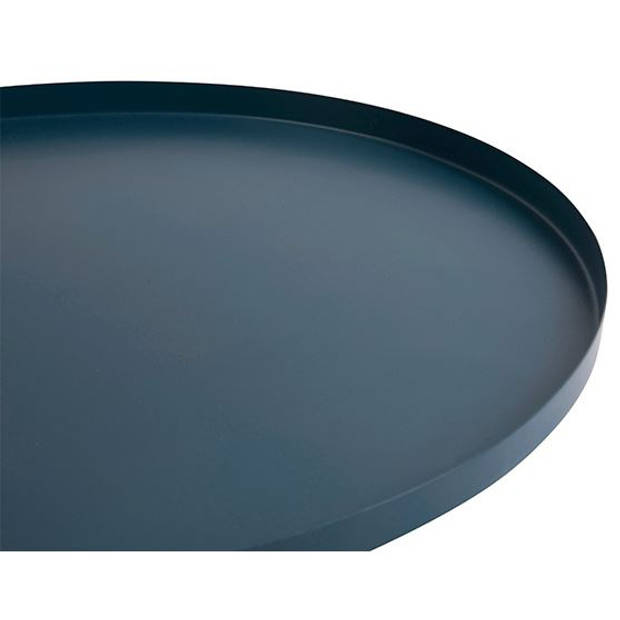 Present Time dienblad Tray rond 39,5 cm staal donkerblauw