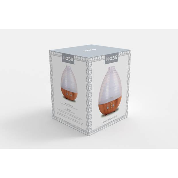 MOSS - Luchtbevochtiger / Geurdispenser met LED - Bulb - 235 ml
