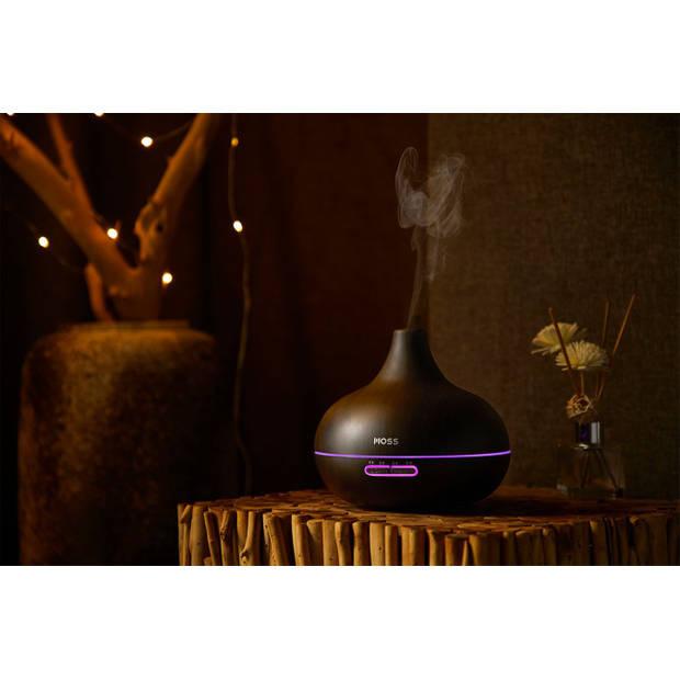 MOSS - Luchtbevochtiger / Geurdispenser met LED - Dark cone - 400 ml