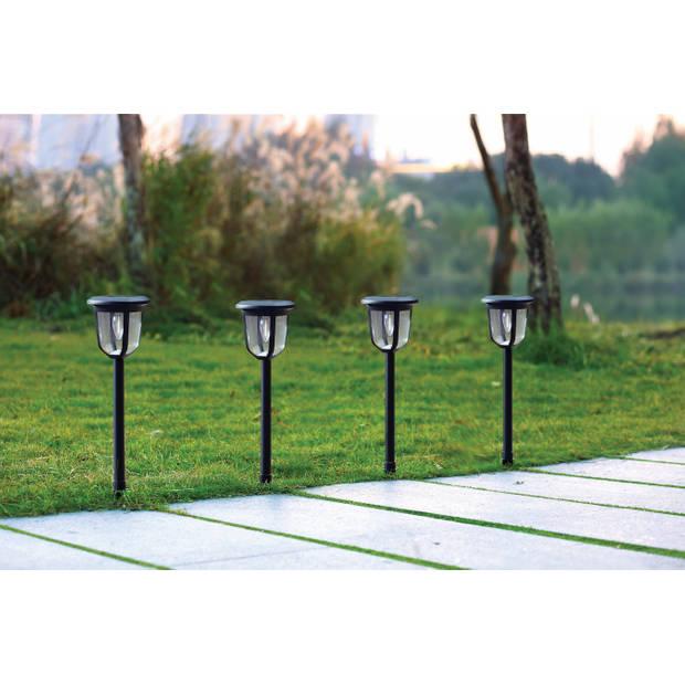 Hyundai - Moderne tuinpadverlichting op zonne-energie - 4 stuks