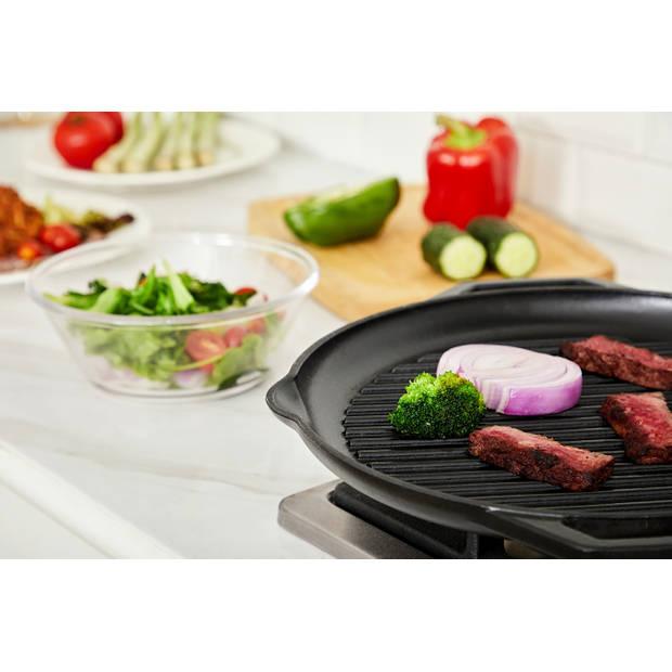 Buccan - Hamersley - Gietijzeren pannenset - Grillplaat - Zwart