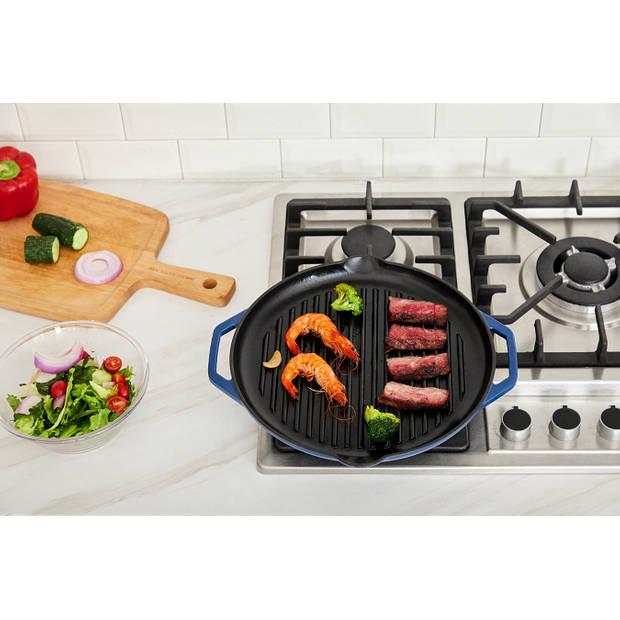 Buccan - Hamersley - Gietijzeren pannenset - Grillplaat - Blauw