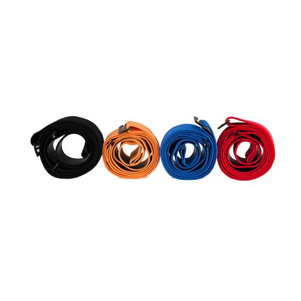 Hartslagmeter - Senz Sports 3-in-1 Borstband - Blauw