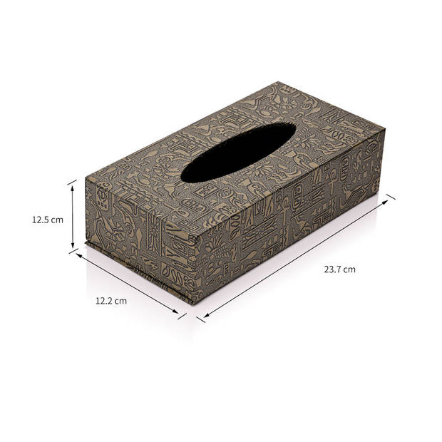 Decopatent® Tissue box Kunstleer - Tissues Tissuedoos - Luxe doos voor