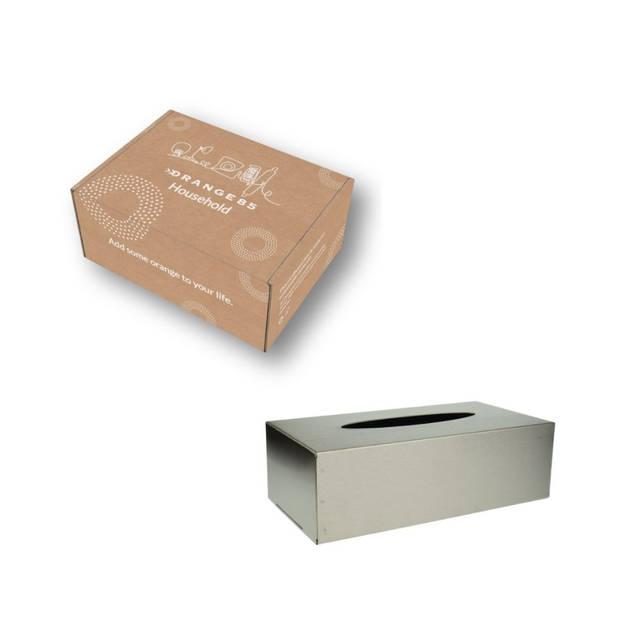 Orange85 Tissuehouder Box RVS Zilver