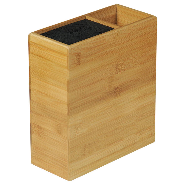 Fsc® Bamboe Houten Messenblok Zonder Messen Messenhouder Met Vak