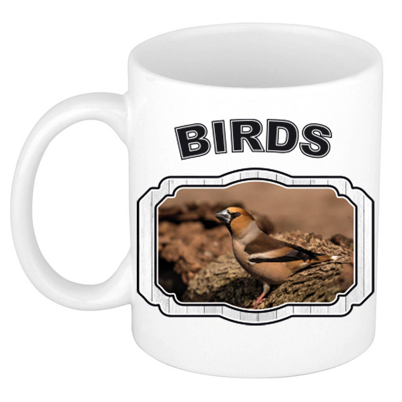 Dieren Liefhebber Appelvink Vogel Mok 300 Ml - Kerramiek - Cadeau Beker / Mok Vogels Liefhebber