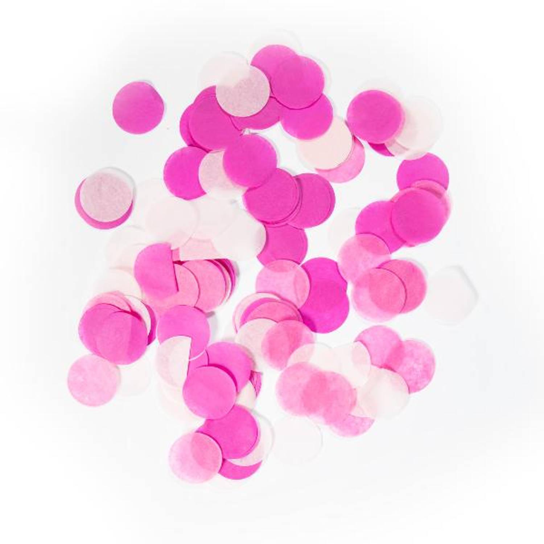 Korting Large Confetti Round Baby Pink