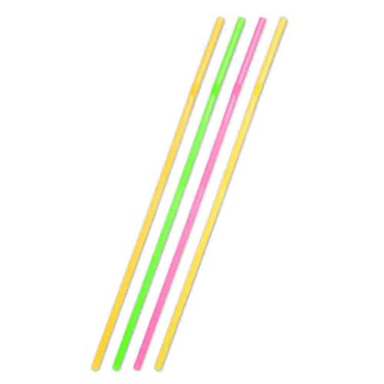 Feestbazaar Grote XL Neon Gekleurde Rietjes 25 stuks online kopen