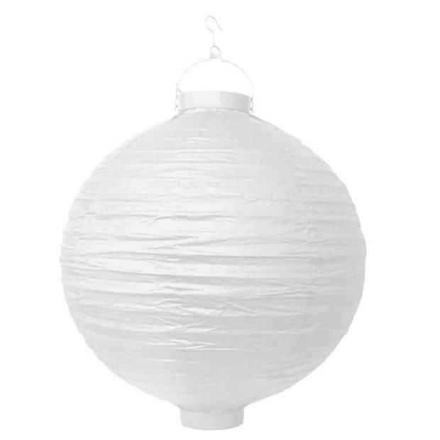 Decoratieve lampion wit LED 30 cm