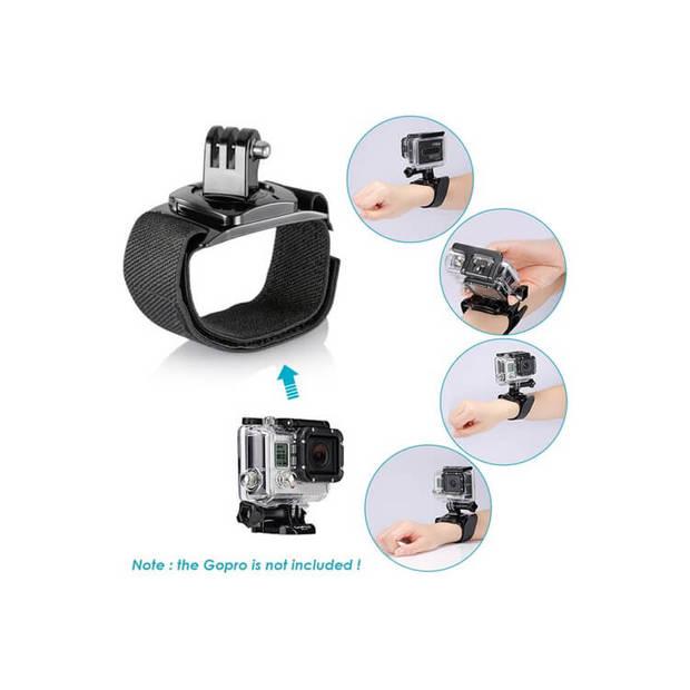FEDEC Action Camera Accesoireset - 12 in 1 - Geschikt voor alle Go Pro Camera's