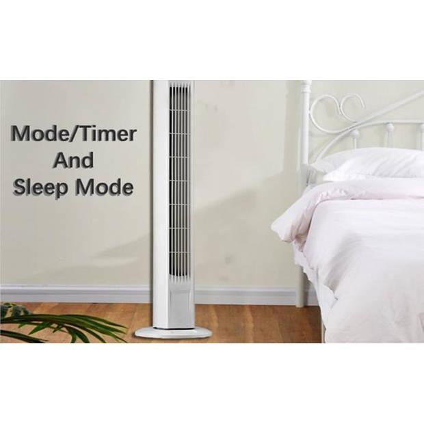 FlinQ torenventilator - Toren ventilator staand - Timer - Afstandsbediening - Wit