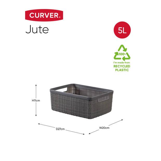 Curver Jute Mand - S 5L - Donkergrijs