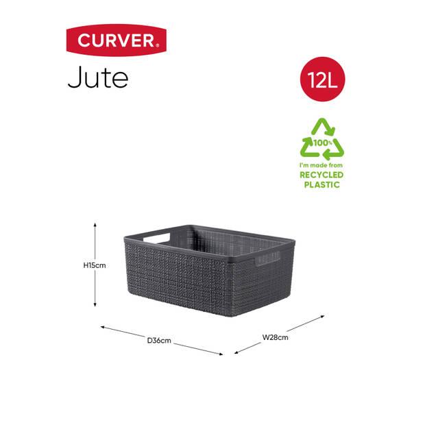 Curver Jute Mand - M 12L - Donkergrijs