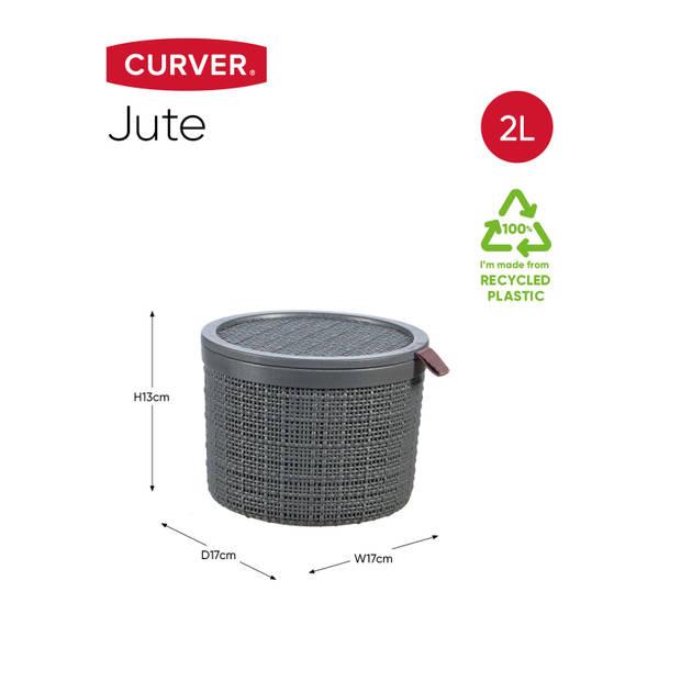 Curver Jute Mand - Rond 2L - Donkergrijs