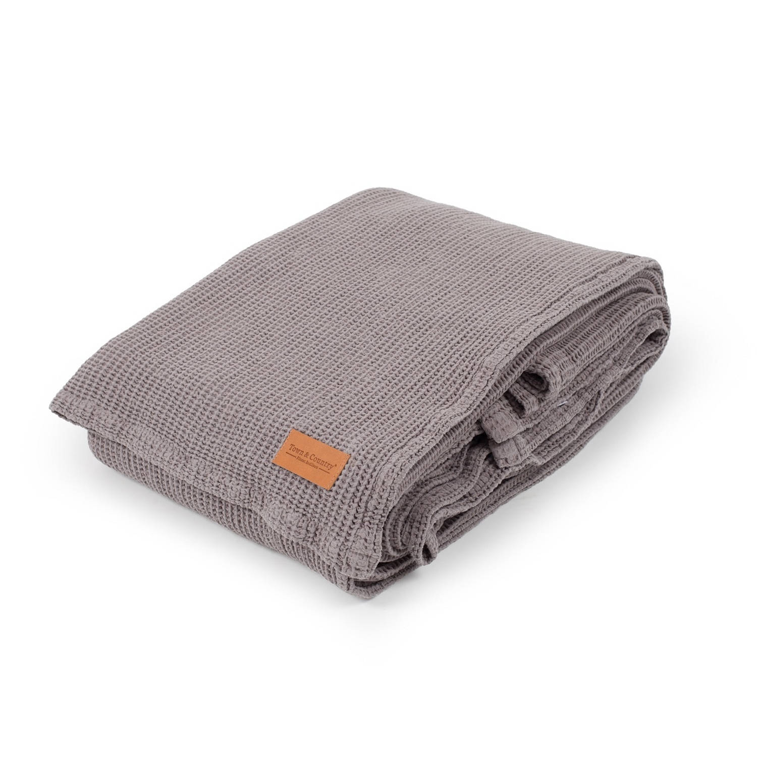 Korting Town en Country Bedsprei Dexter Dobby Taupe 2 Persoons Bedsprei 260 X 260 Cm