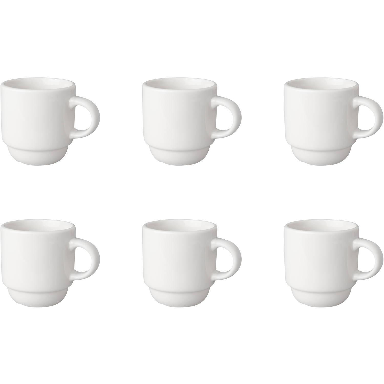 Korting Mammoet Koffiekop Smal Budgetline 14 Cl Wit 6 Stuk(s)