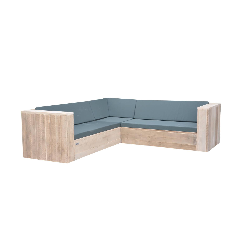 Wood4you - Loungeset 2 Steigerhout 230x200 Cm - Incl Kussens - Gl