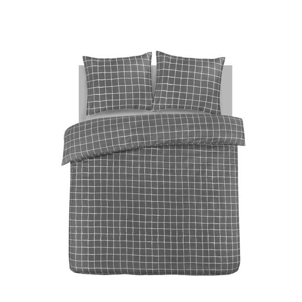 Blokker dekbedovertrek - 240x240 cm - ruit