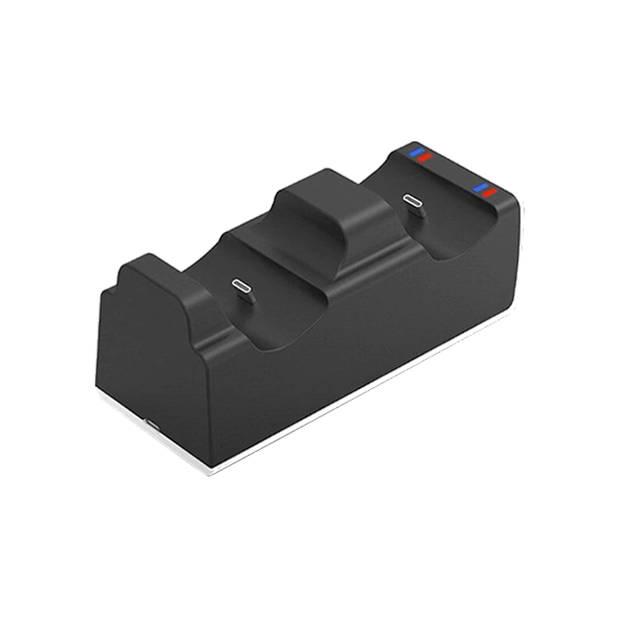 FEDEC Playstation 5 Controller Dockingstation - Ruimte voor 2 controllers - Zwart