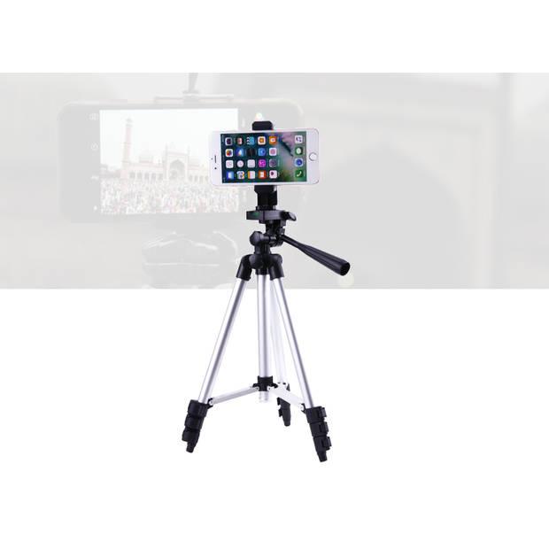 FEDEC Smartphone Statief - Tripod - 150CM - Grijs