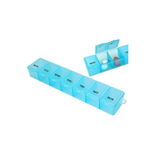 Banzaa Medicijnendoosje 7 dagen 4 stuks – Pillen box met Weekaanduiding – Blauw